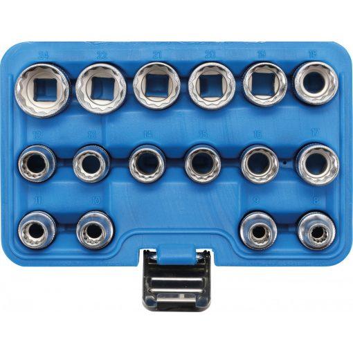 """BGS technic 16 részes 1/2"""" dugókulcs készlet, 12-szögű, 8-24 mm (BGS 2226)"""