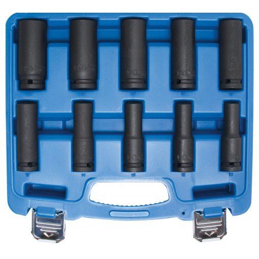 """BGS technic 10 részes hosszított levegős dugókulcs készlet 1/2"""", 10-24mm (BGS 5206)"""