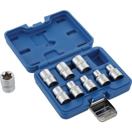"""BGS technic 9 részes E-típusú dugókulcs készlet E10-E24, 1/2"""" (BGS 6425)"""