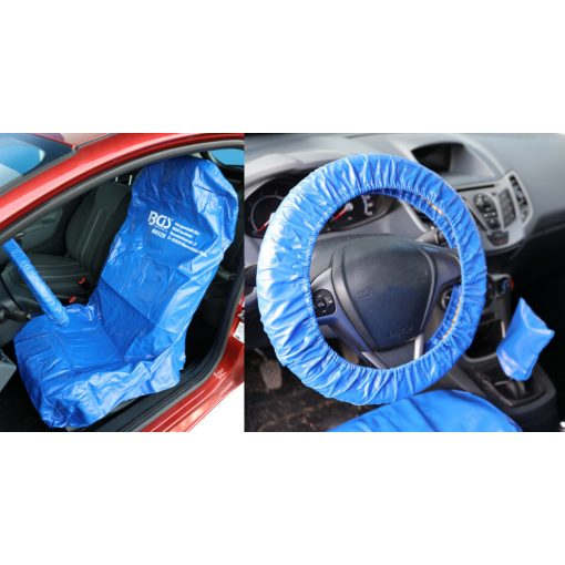 BGS technic Ülés és kormány takaró/védő szintetikus bőrhuzat (BGS 66529)