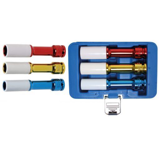 """BGS technic 3 részes levegős dugókulcs készlet műanyag borítással 1/2"""", 17-19-21mm, 150mm hosszú (BGS 7100)"""
