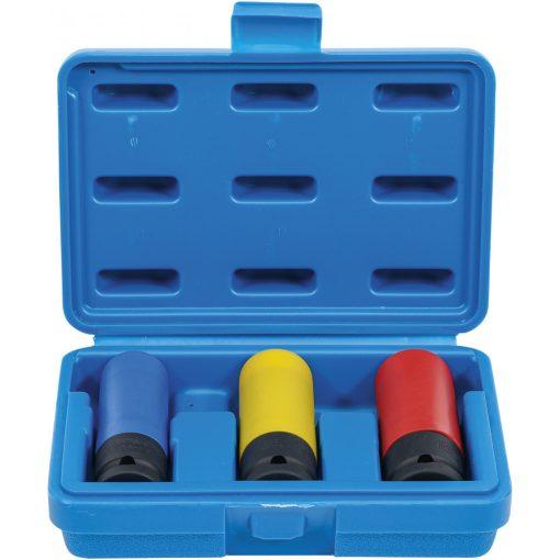 Gépi légkulcsfej készlet | Ultra Slim | 12,5 mm  | 17 / 19 / 21 mm | 3 darabos (BGS 7500)