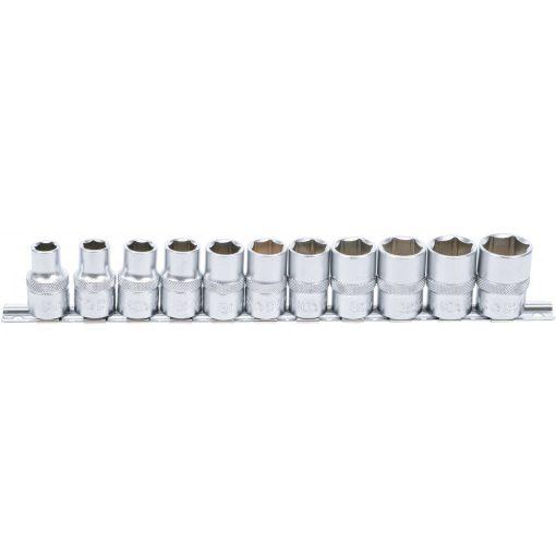 """BGS technic 11 részes dugókulcs fej készlet, 1/2"""", 6 pontos, 10 - 21 mm (BGS 9106)"""