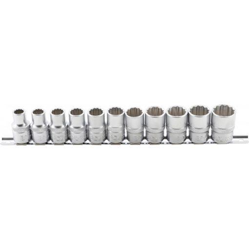 """BGS technic 11 részes dugókulcs fej készlet, 1/2"""", 12 pontos, 10 - 21 mm (BGS 9107)"""