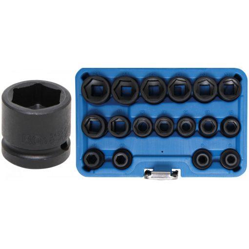 """BGS technic 17 részes levegős dugókulcs fej készlet, 1/2 """", extra lapos, 8-24 mm (BGS 9286)"""